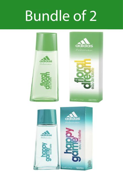 Buy ADIDAS HAPPY GAME/FLORAL DREAM EDT FOR WOMEN 50ML - Pack of 2 Singapore