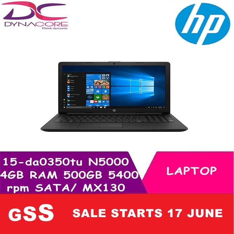 HP 15-da0350tu Intel Pentium Silver N5000 4GB RAM 500GB 5400rpm SATA/ MX130 WIN 10