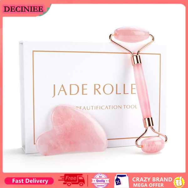 Buy Natural Rose Quartz Roller Facial Jade Roller Stone Gua sha Scraper Face Lifting Massage Skin Eye Body Massager Beauty Care Tool Singapore