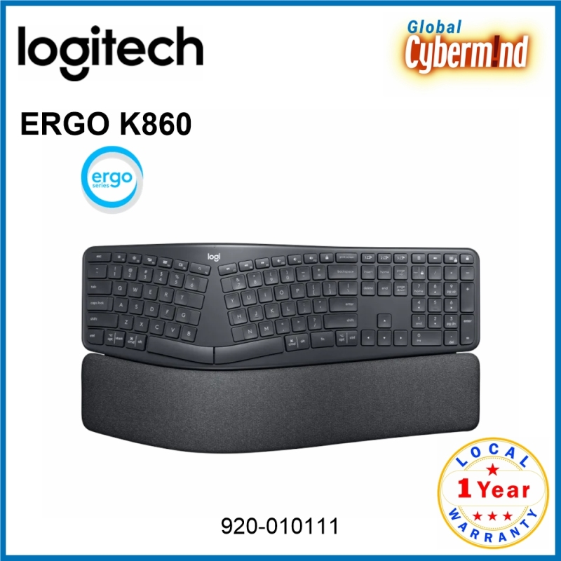 Logitech ERGO K860 Wireless Split Ergonomic Keyboard [920-010111] (Brought to you by Global Cybermind) Singapore