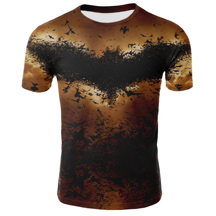 989815f5aff Batman T Shirt Batman Arkham Knight Pixel Logo T-Shirt Print Cotton Tee  Shirt Short Sleeves 6xl Summer Fun Male Tshirt