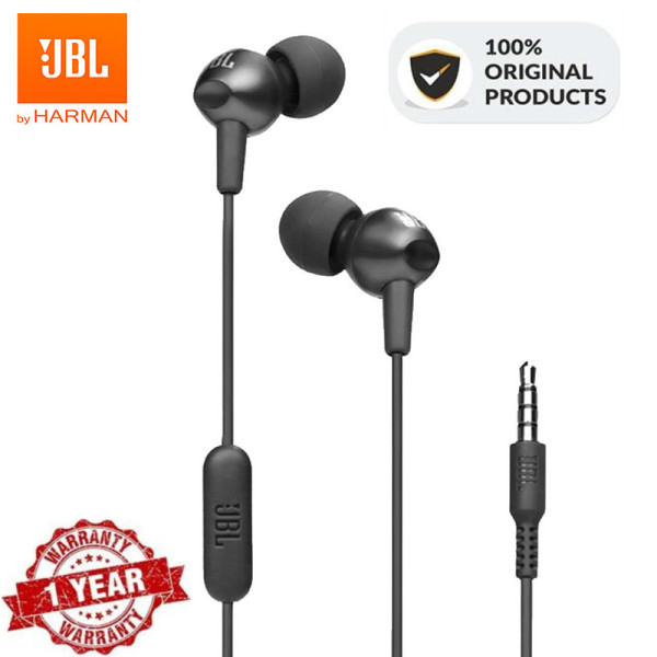 Original for JBL C200si In-ear 3.5mm Wired Earphones Sports Music Headset Harman Gym Gaming Earbuds Deep Bass line Control with Mic For ios iPhone and Android Huawei/Xiaomi/oppo/vivo/Samsung Singapore
