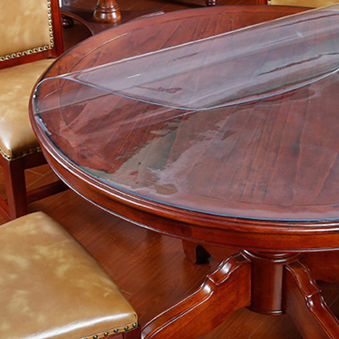 JIJI (Livia Pastoral Water & Heat Proof Transparent Table Mat - Round) - Transparent / 80CM / 100CM / 120CM / 140CM / 150CM / 1.5mm  (SG)