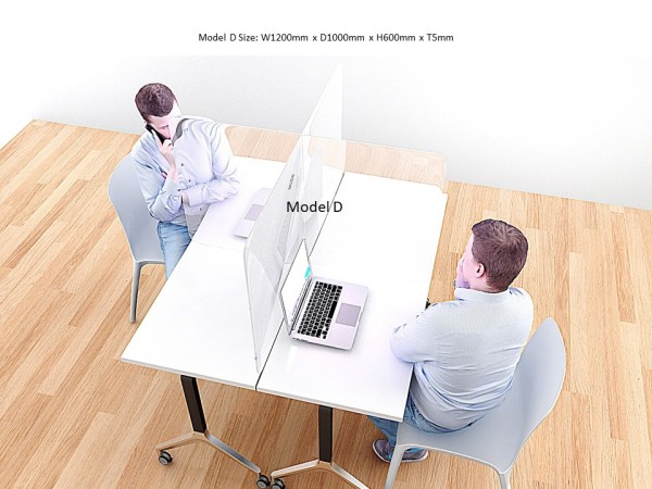 Office Table Acrylic Divider Shield Safe Protect Partition | Retail, supermarket, F&B restuarant, Gym workstation