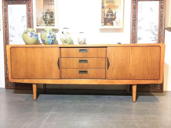 Teak TV Stand Media Console Cabinet (Pre-owned Refurbished Furniture)