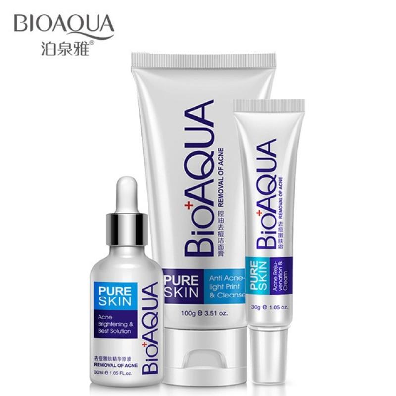 Buy BIOAQUA Acne Treatment Set Of 3 For Acne Treatment/Acne Scar Removal Singapore