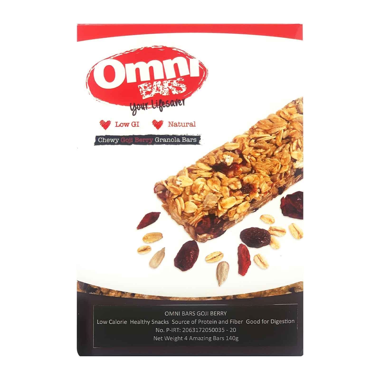 Omni Chewy Goji Berry Muesli Bars