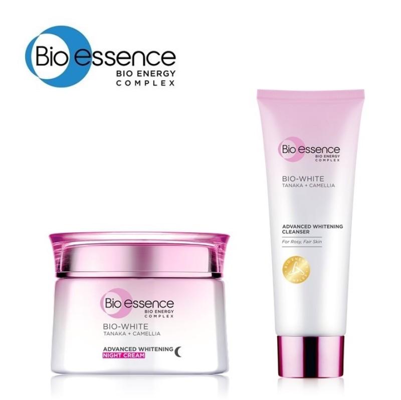 Buy Bio Essence Bio-White Advanced Whitening Night Cream 50g + Cleanser 100g Singapore