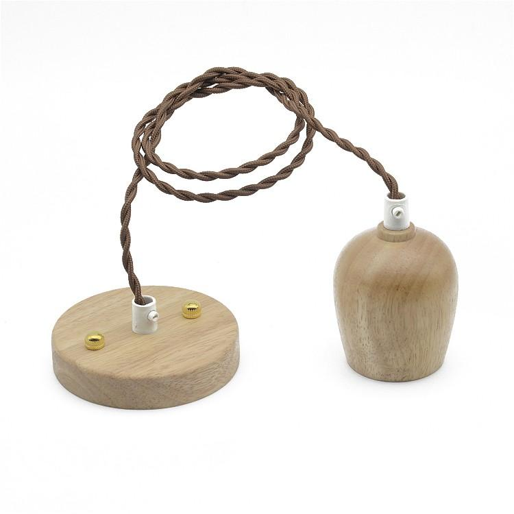 Wood Bulb Holder Pendant Light without bulb