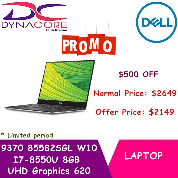 BRAND NEW [DELL] LAPTOP XPS (9370) i7 9370 85582SGL W10 13.3 IN INTEL CORE I7-8550U 8GB 256GB SSD WIN 10 HOME