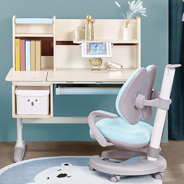Children Study Table and Chair - Ergonomic and Adjustable - Wooden Study Desk for Kids