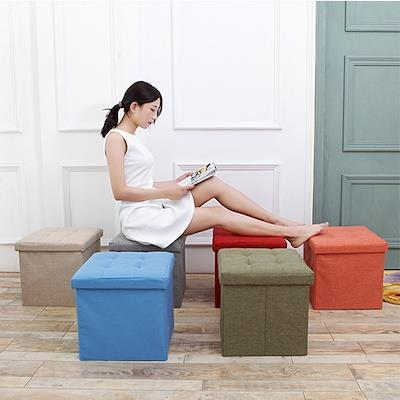 MISSHER Ottoman STORAGE Colourful Shoe Changing Stool / Bench cum Shoe Rack/ Storage Cabinet ST41