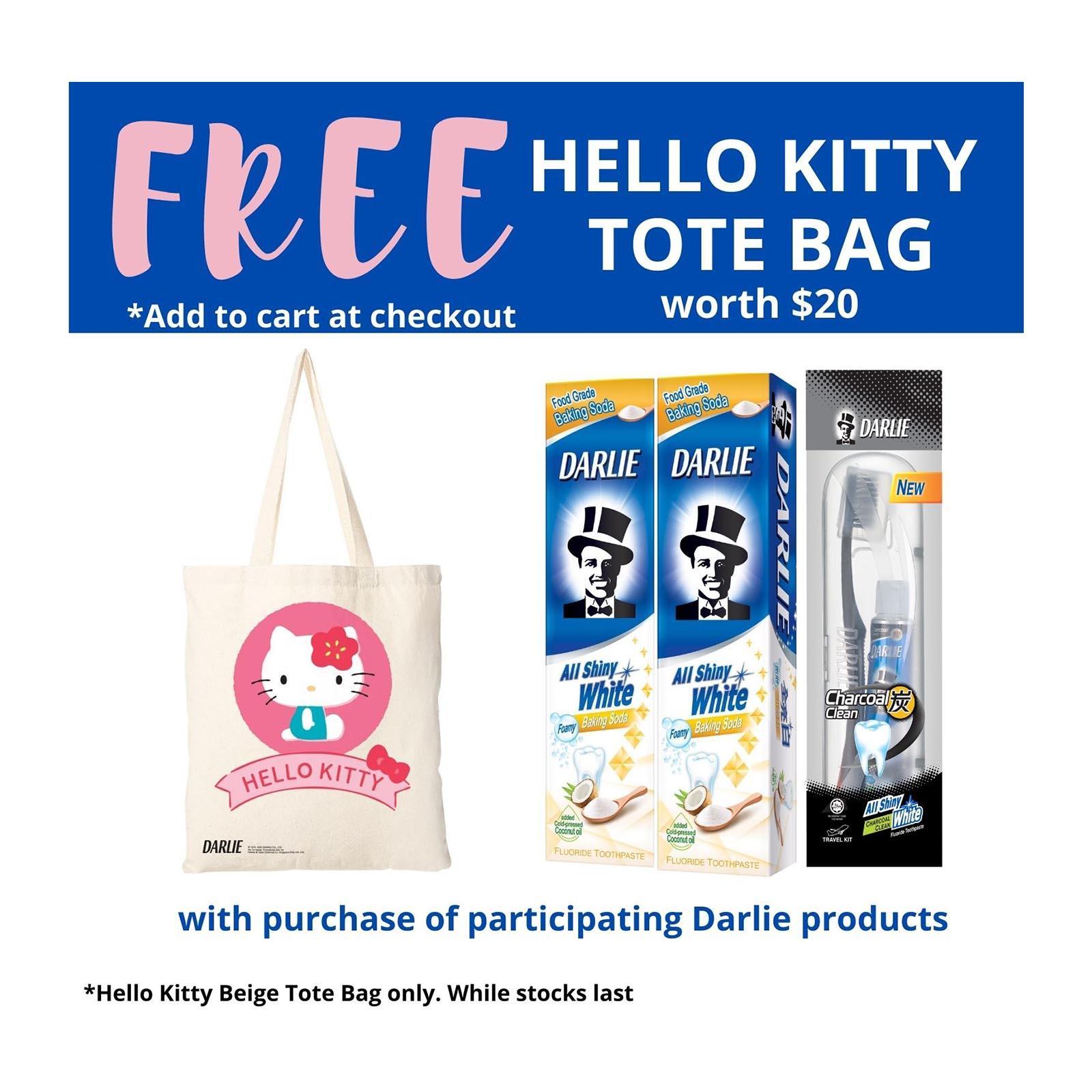 Darlie All Shiny White Baking Soda Whitening Toothpaste + FREE Travel Kit