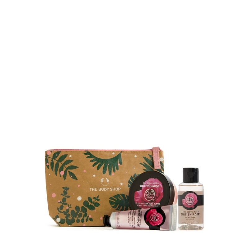 Buy The Body Shop Handpicked British Rose Gift Pouch (Christmas Gift Set) Singapore
