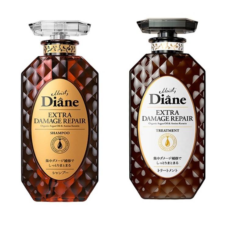 Buy [BUNDLE PACK] Moist Diane Perfect Beauty Extra Damage Repair Shampoo + Treatment Singapore