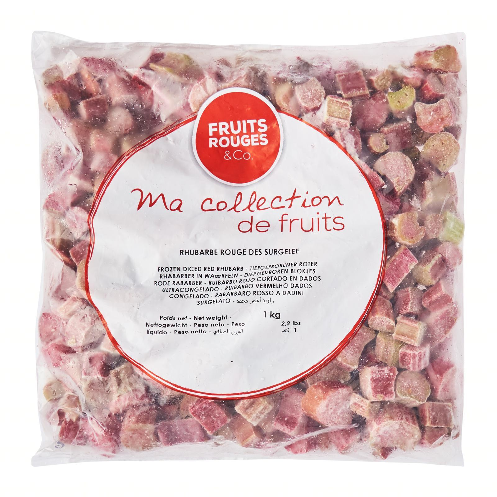 Fruits Rouges & Co Red Rhubarb Cutted - Frozen - By Le Petit Depot By Redmart.