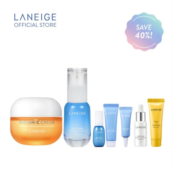 Buy LANEIGE Brightening & Hydrating Trial Kit (Radian-C Cream 30ml + Water Bank Hydro Essence 30ml) Singapore