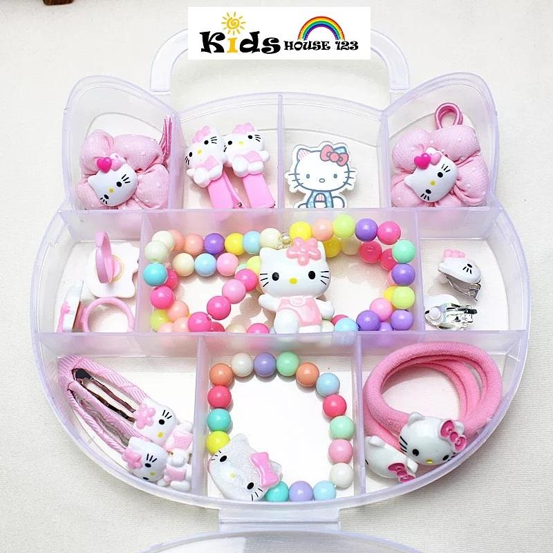973f5cb19 15-piece Hello Kitty Hair Accessories Set/Jewelry Gift Set Packed in Kitty  Design