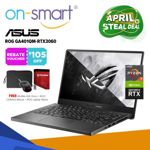 【Next Day Delivery】ASUS ROG Zephyrus GA401QM-RTX3060 | AMD Ryzen 7 5800HS Processor | 16GB RAM | 1TB NVMe SSD | NVIDIA GeForce RTX 3060 6GB GDDR6 | Windows 10 Home | 2 Years International Warranty