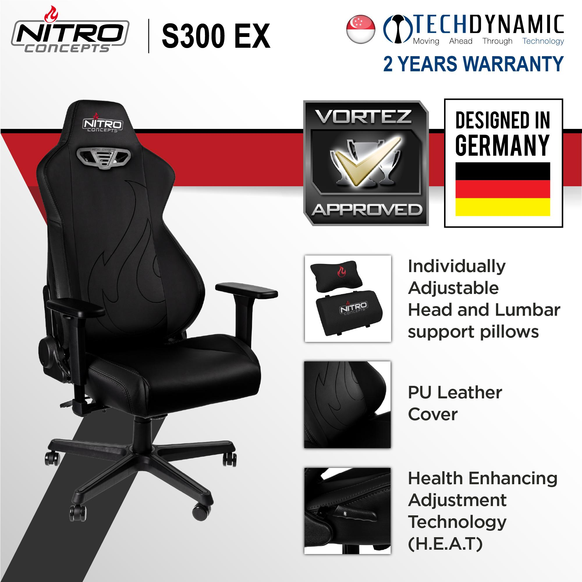 Nitro S300EX GAMING CHAIR PU Leather [Available in 4 colors]