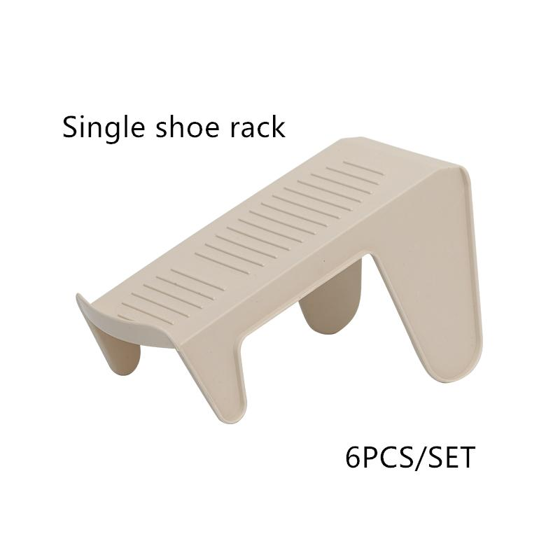 4 or 6PCS shoe storage rack double shoe support shoe cabinet save space to put shoes plastic storage box