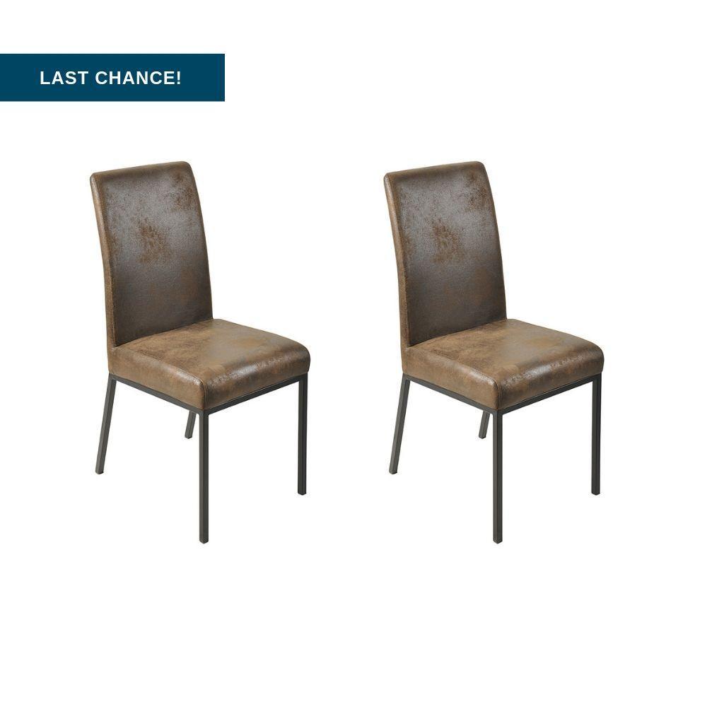 Mila II Dining Chair, Set of 2 (Brown/Black)