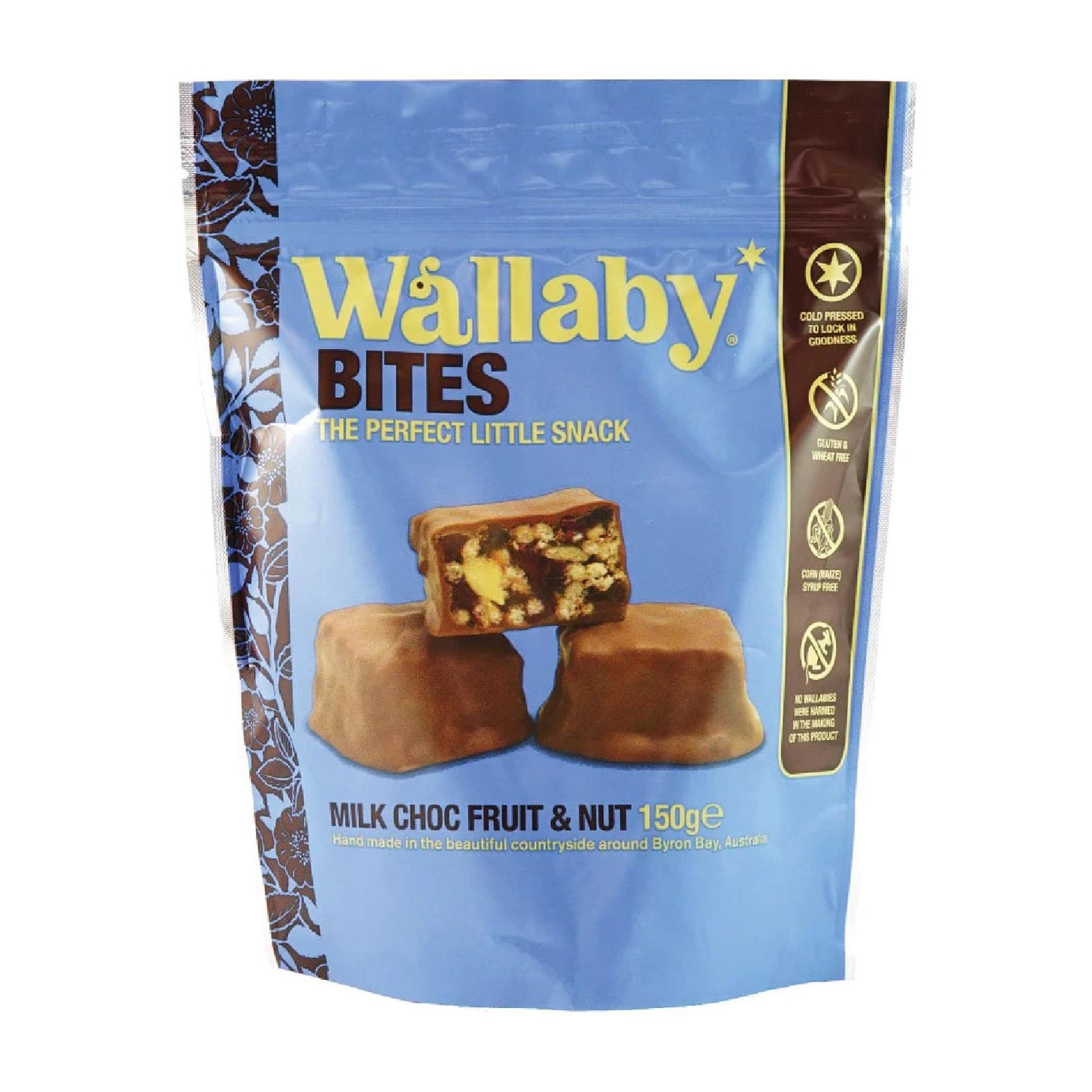 Wallaby BITES Milk Chocolate Fruit And Nut