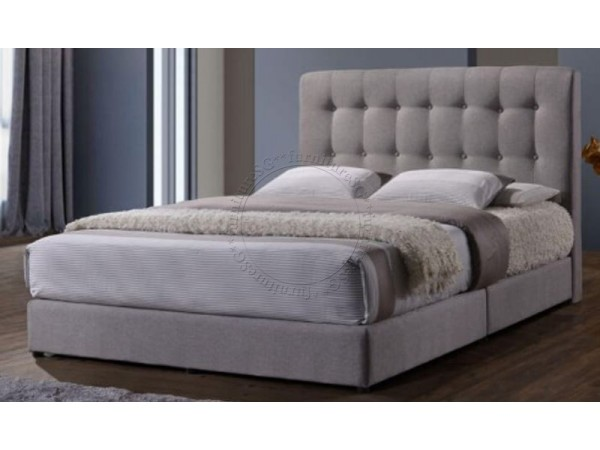 Modern Fabric Bedframe with Buttons Queen/King
