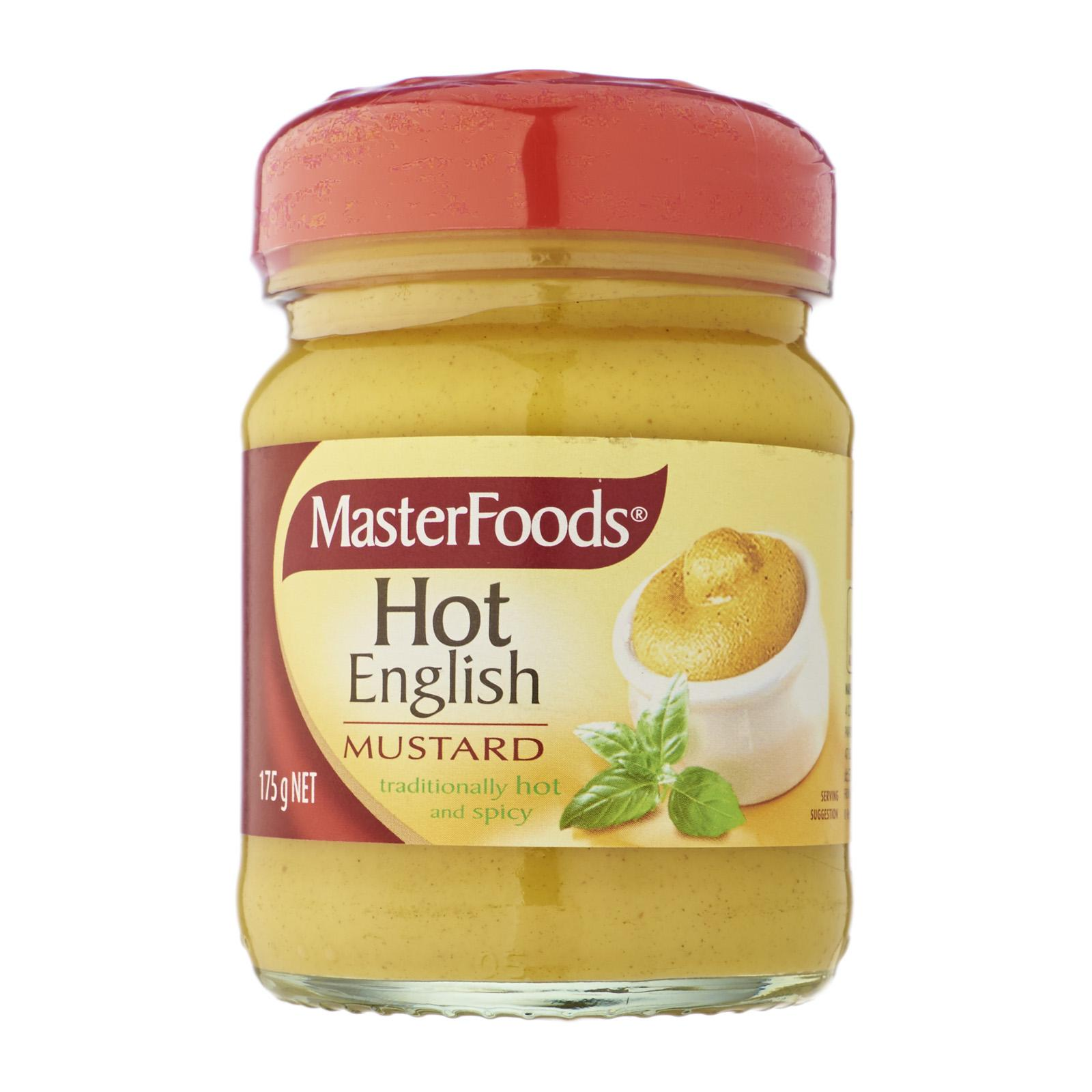 Masterfoods Hot English Mustard Jar By Redmart.