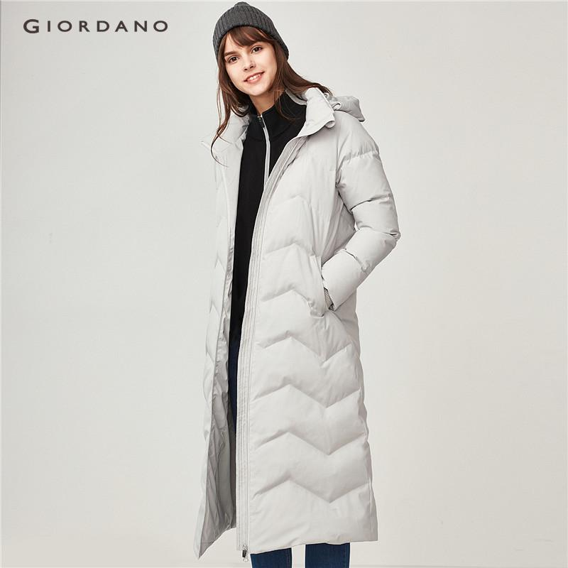 Giordano Women Detachable Hood Long Down Jacket [free Shipping] 05378702 By Giordano Official.