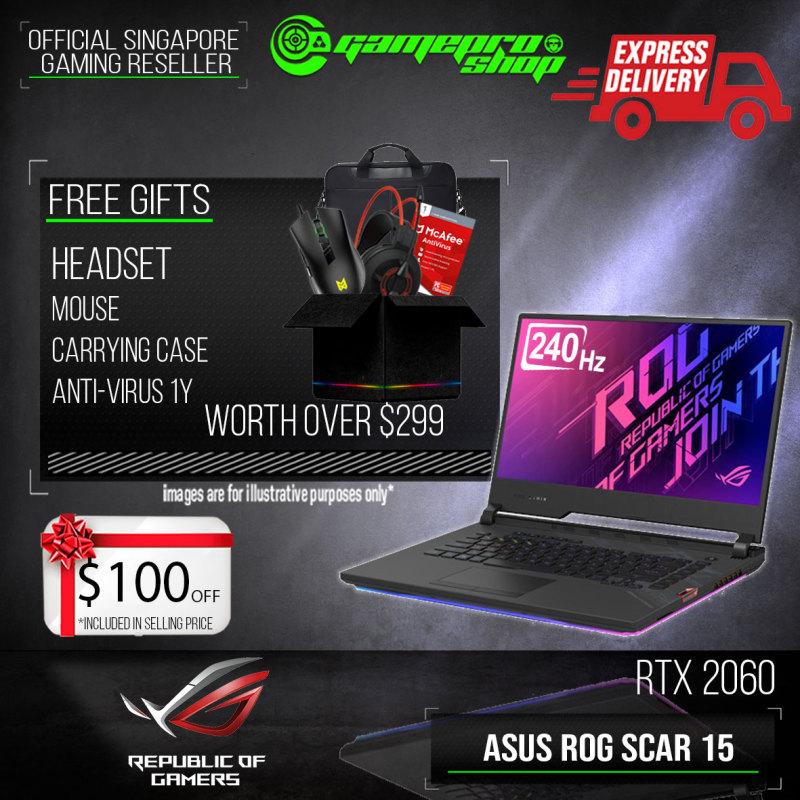 [Express Delivery] ASUS ROG STRIX SCAR 15 GL532LV (i7-10875H/16GB/1TB SSD/RTX 2060/15.6 240hz/W10)-G512LV-RTX2060(2Y)