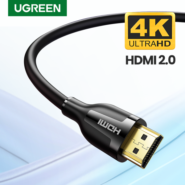 UGREEN HDMI Cable 4K HDMI 2.0 Male to Male High Speed HDMI Adapter 3D for PS3/4/4 pro Nintendo Switch Xiaomi/Huawei TV Box Projector Singapore