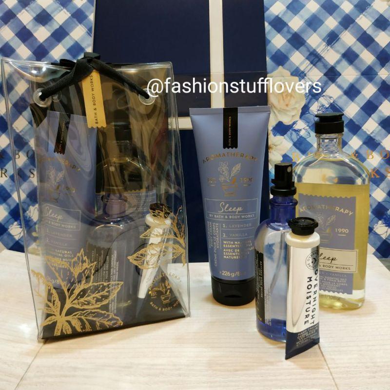 Buy Special Bath and body works Sleep Aromatherapy LAVENDER VANILLA gift bag set Singapore