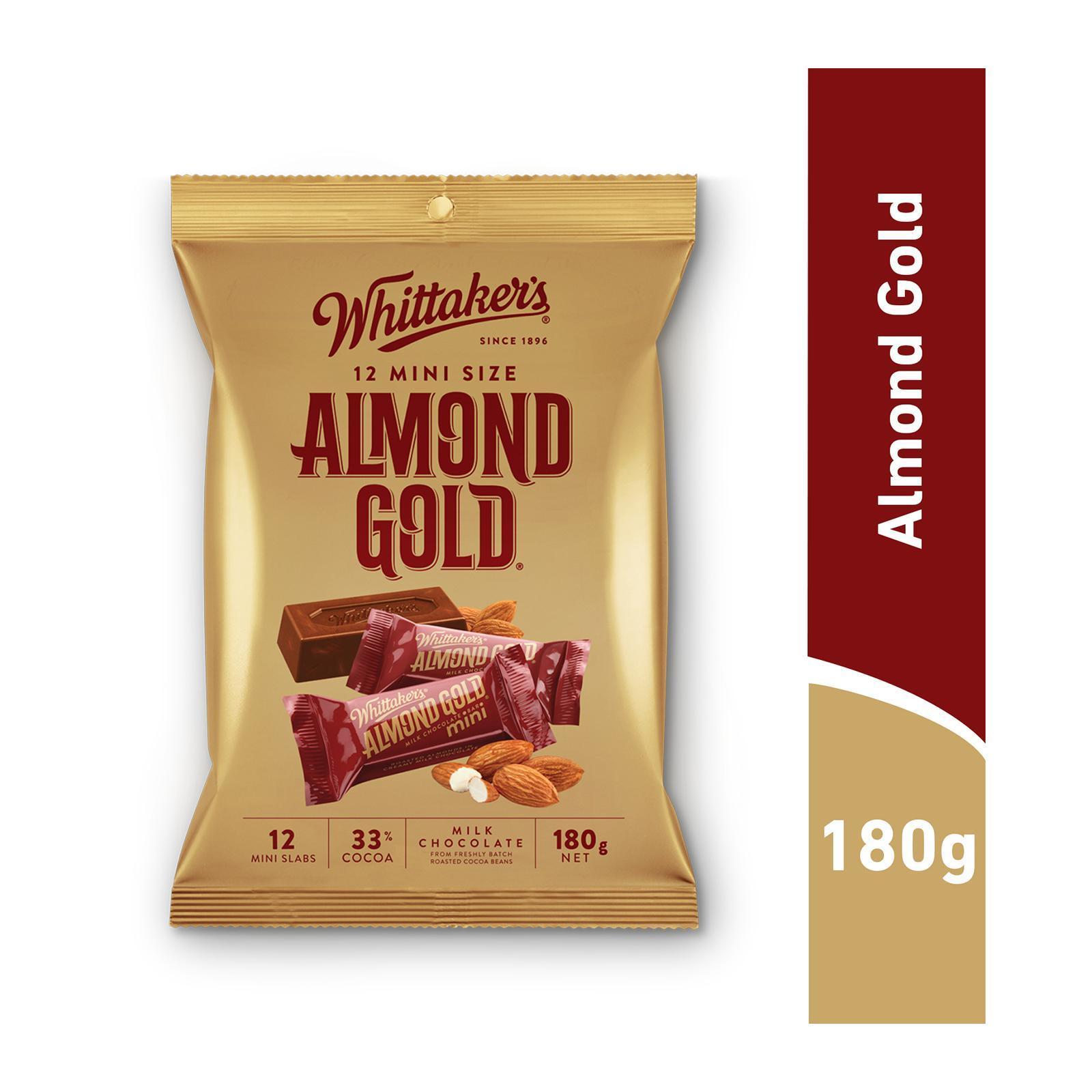 WHITTAKER'S Mini Milk Chocolate - Almond Gold 12s