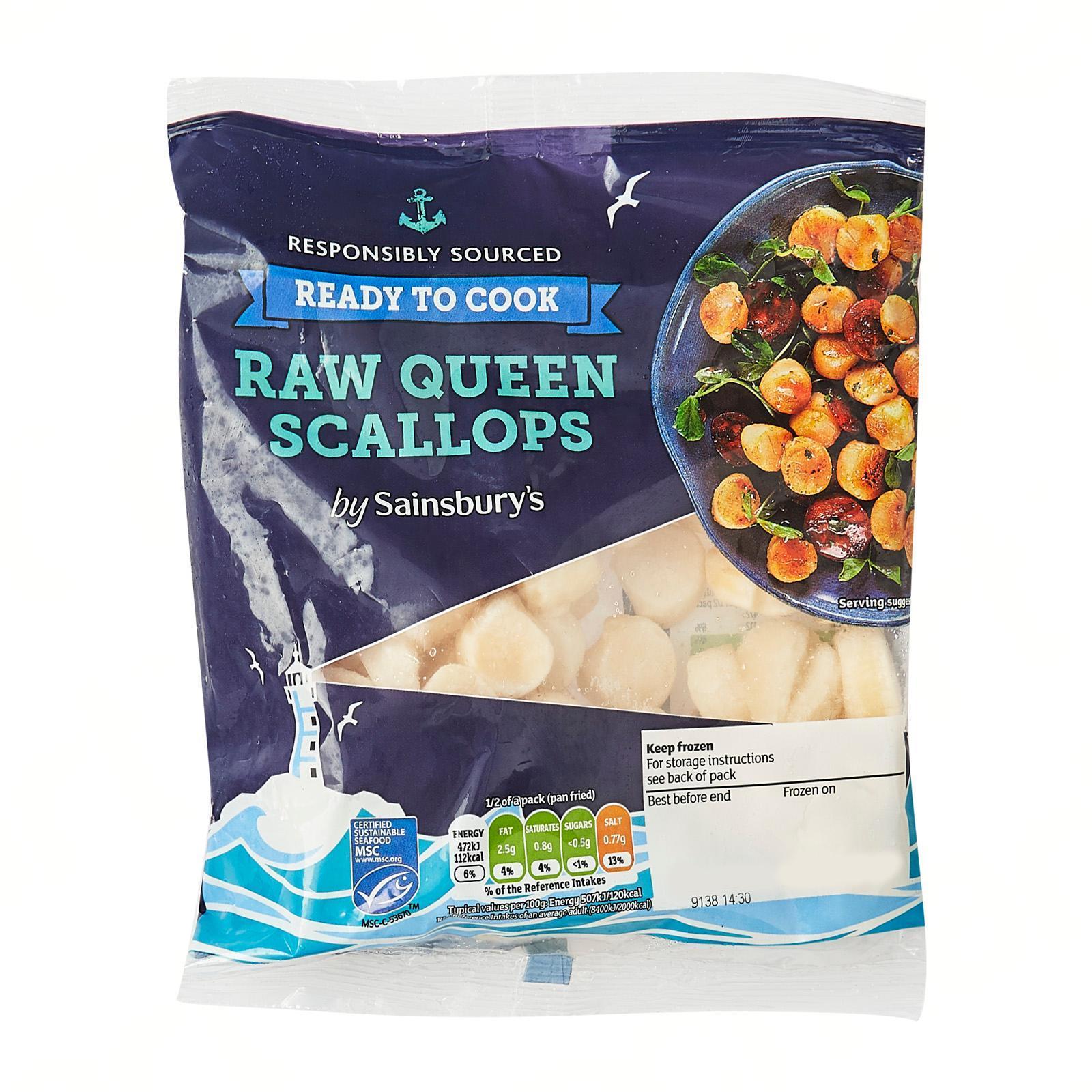Sainsbury's Raw Patagonian Scallops - Frozen