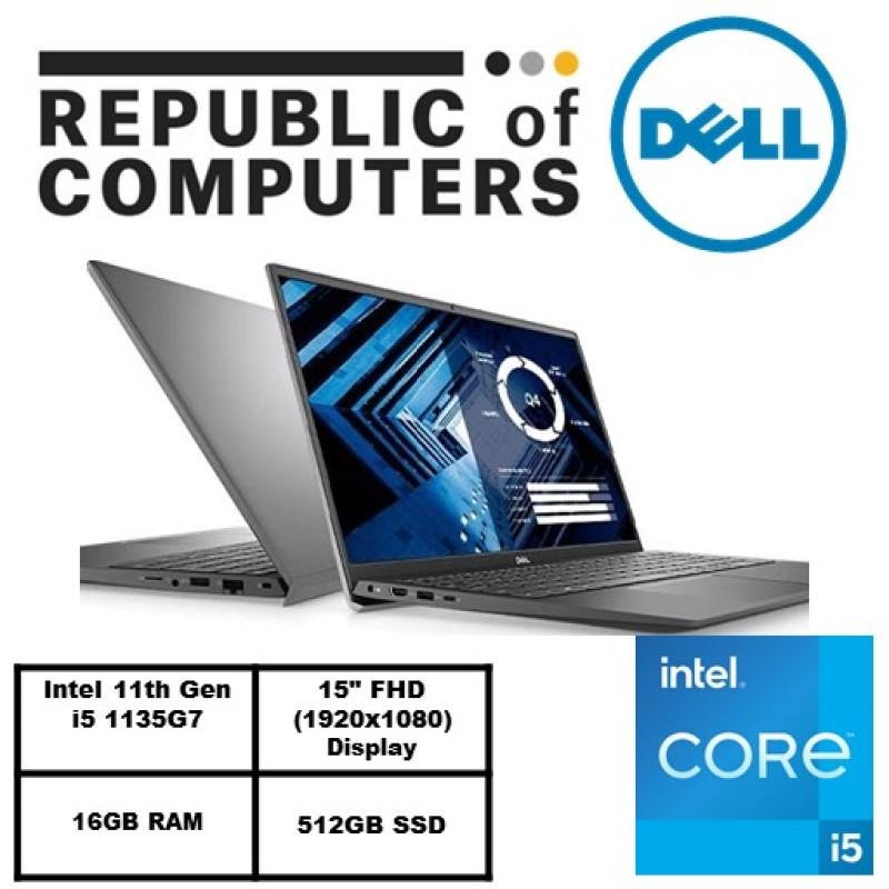 NEW 11GEN (READY STOCK)New Vostro 15 3500- Intel i5-1135G7/Win 10 Pro/Intel® Iris® Xe Graphics/16GB RAM/512GB SSD/3Yrs warranty