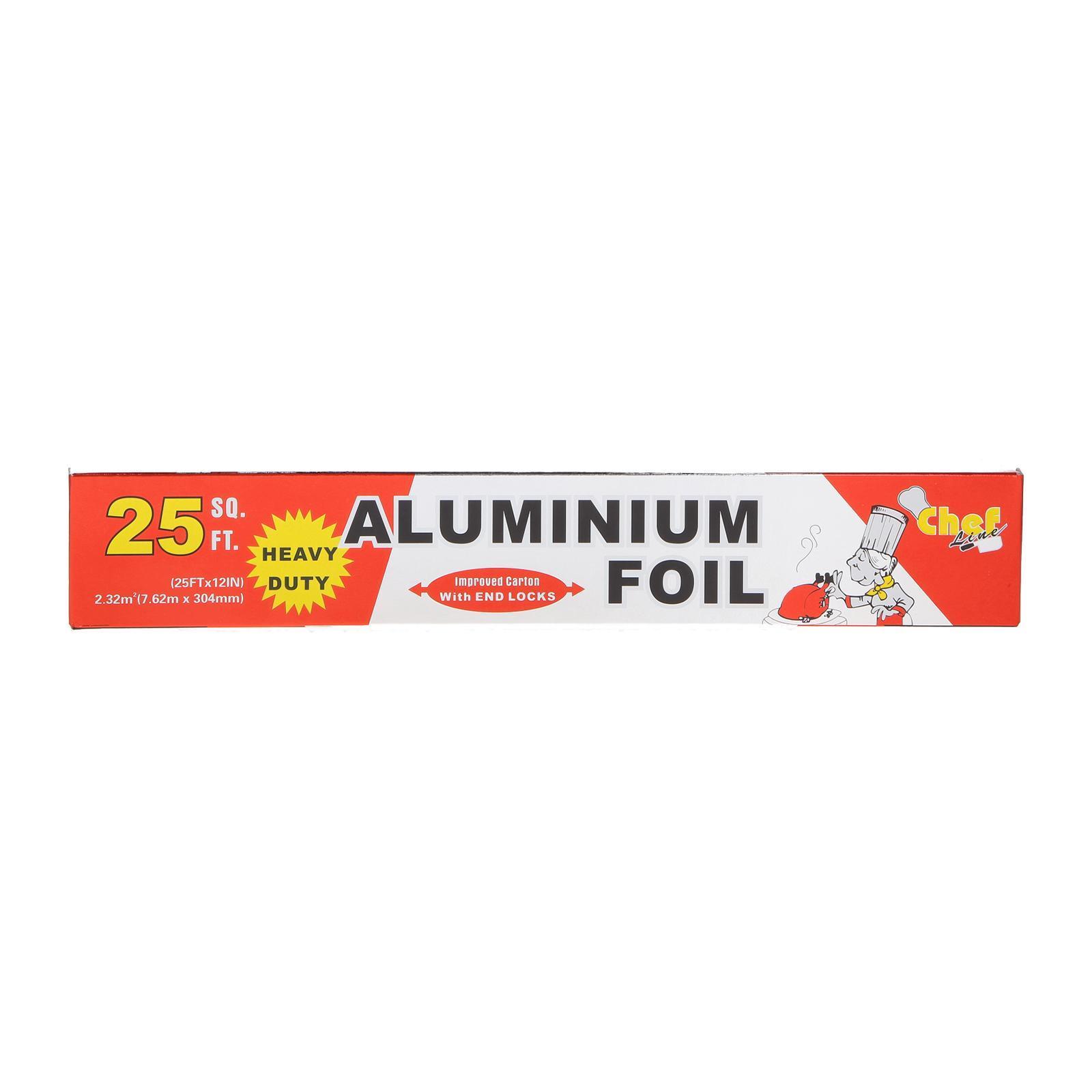 Chef Aluminium Foil With End Locks (25 Square Feet)