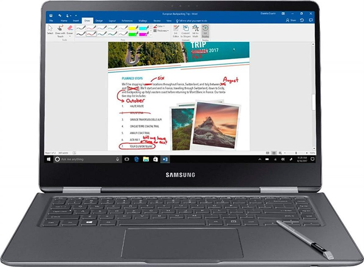 Samsung Notebook 9 Pro  15  FHD 2-in-1 Touch Screen Laptop, 8th Gen Intel Quad-Core i7-8550U Up To 4GHz, 16GB DDR4, 256GB SSD, Backlit Keyboard, Windows 10, Built-in S Pen, Titan Silver