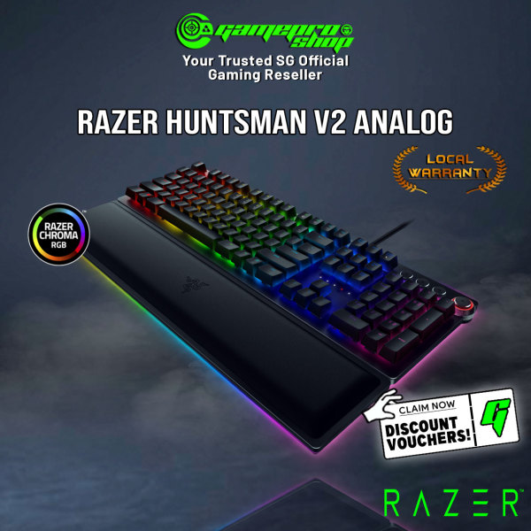 Razer Huntsman V2 Analog Gaming Keyboard with Razer™ Analog Optical Switches (2Y) Singapore