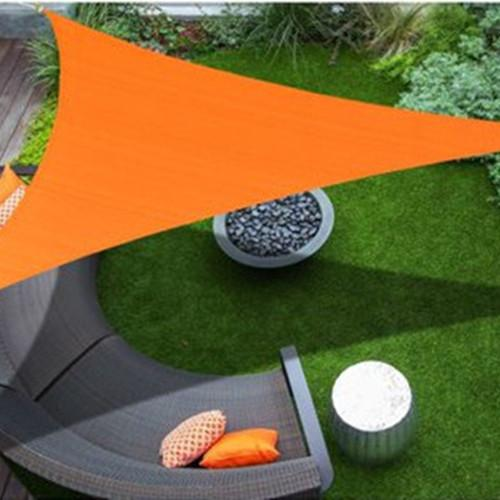 3x3x3m Triangle Sun Shade Sail 90% UV Blocking Awning Canopy Outdoor Garden Sun Shelter UV Protection Plant Cover Waterproof Oxford Fabric
