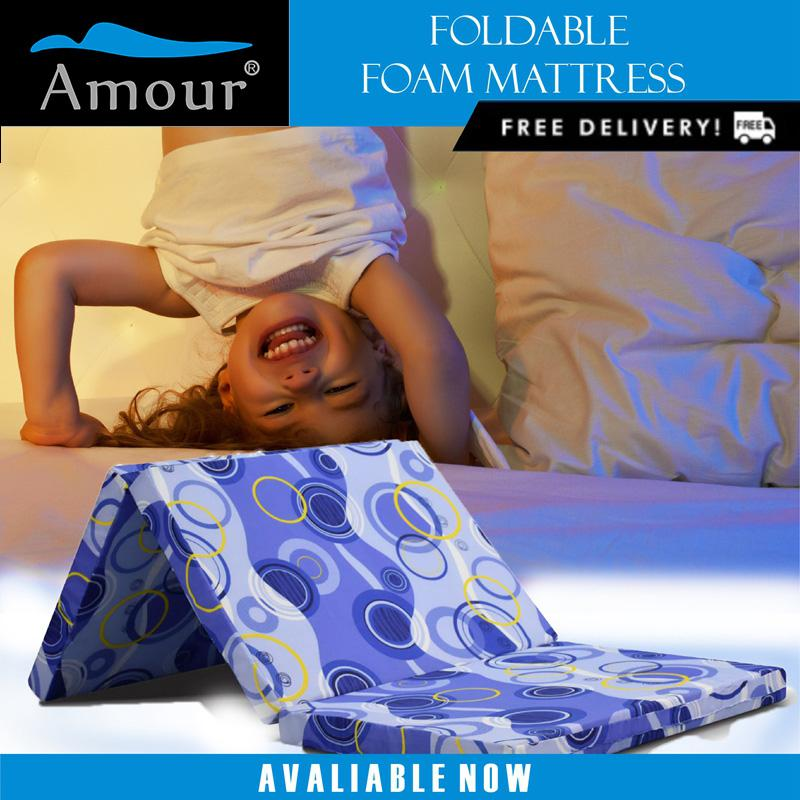 AMOUR BRAND 2 INCH SINGLE SIZE LION FOAM FOLDABLE MATTRESS FREE DELIVERY BETTER THAN SEA HORSE BRAND BEST IN LAZADA
