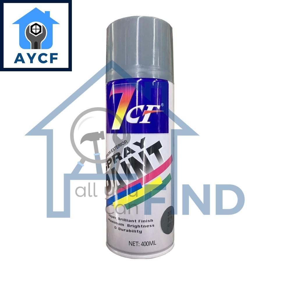 (BUNDLE OF 12) 7CF Interior / Exterior Spray Paint 400ml - Grey