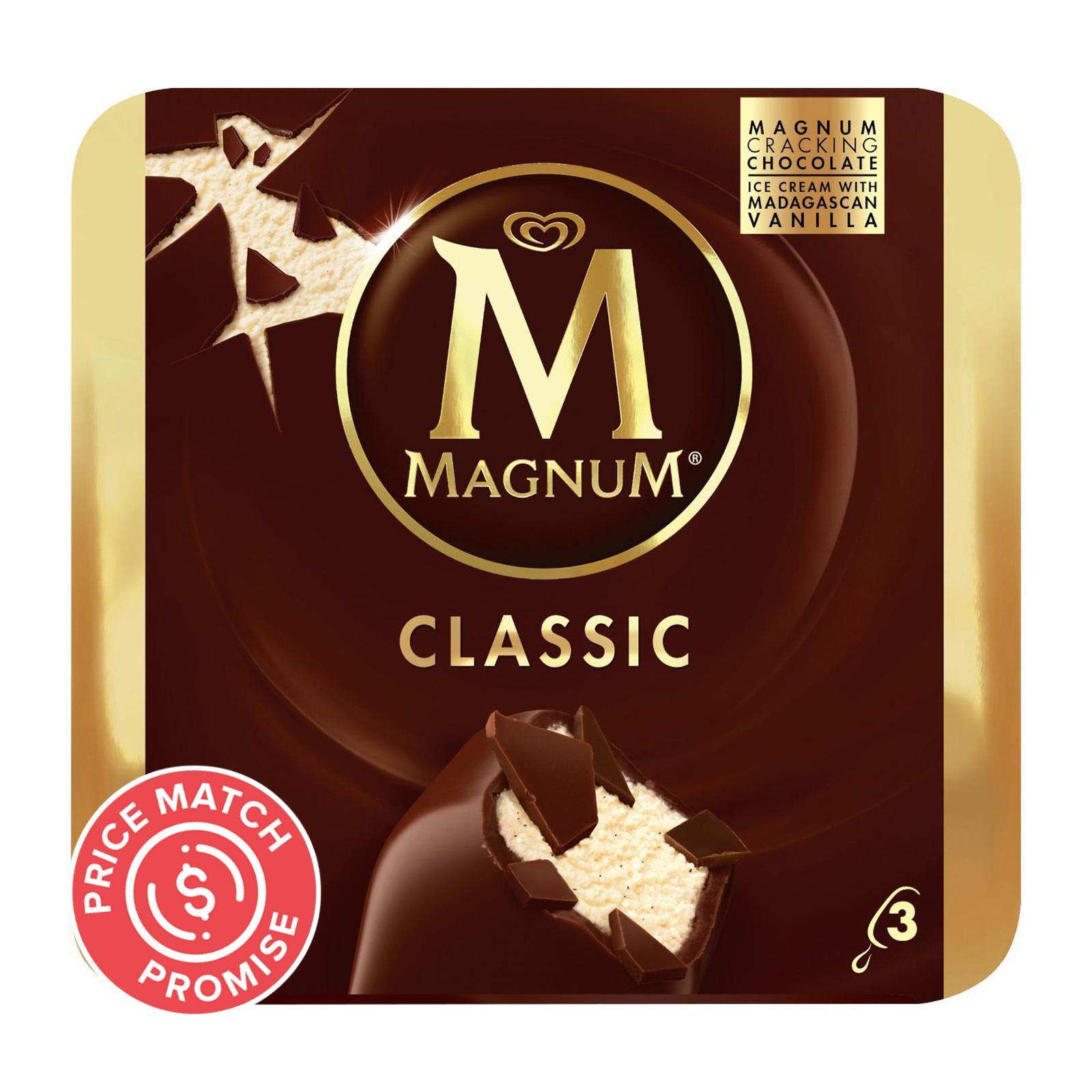 MAGNUM Stick Ice Cream - Classic 3sX110ml