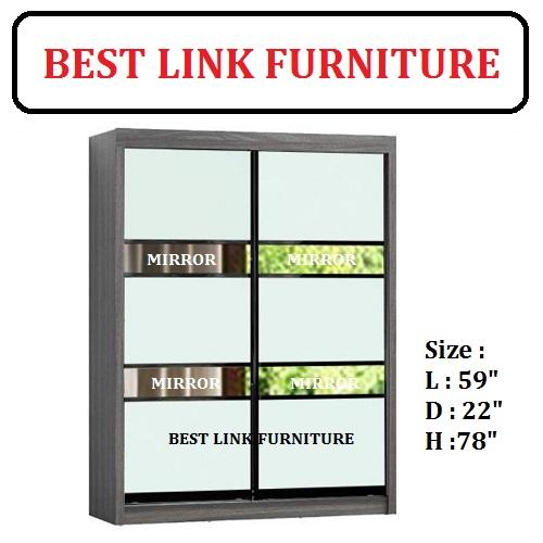 Best Link Furniture BLF 03D 5ft Sliding Door Wardrobe