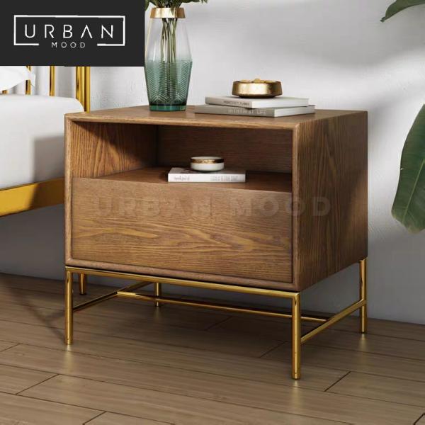 [Pre-Order] ECHO Modern Walnut Bedside Table