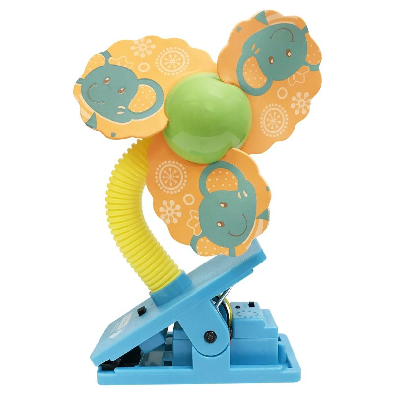 Lucky Baby Mini Safety Clip on Fan W/Ultrasonic Mosquito Repellent - Elephant Singapore