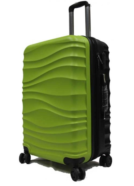 28 inch Large Two-tone ABS Expandable Luggage with Anti-theft Zippers Spinner Wheels and Number Lock