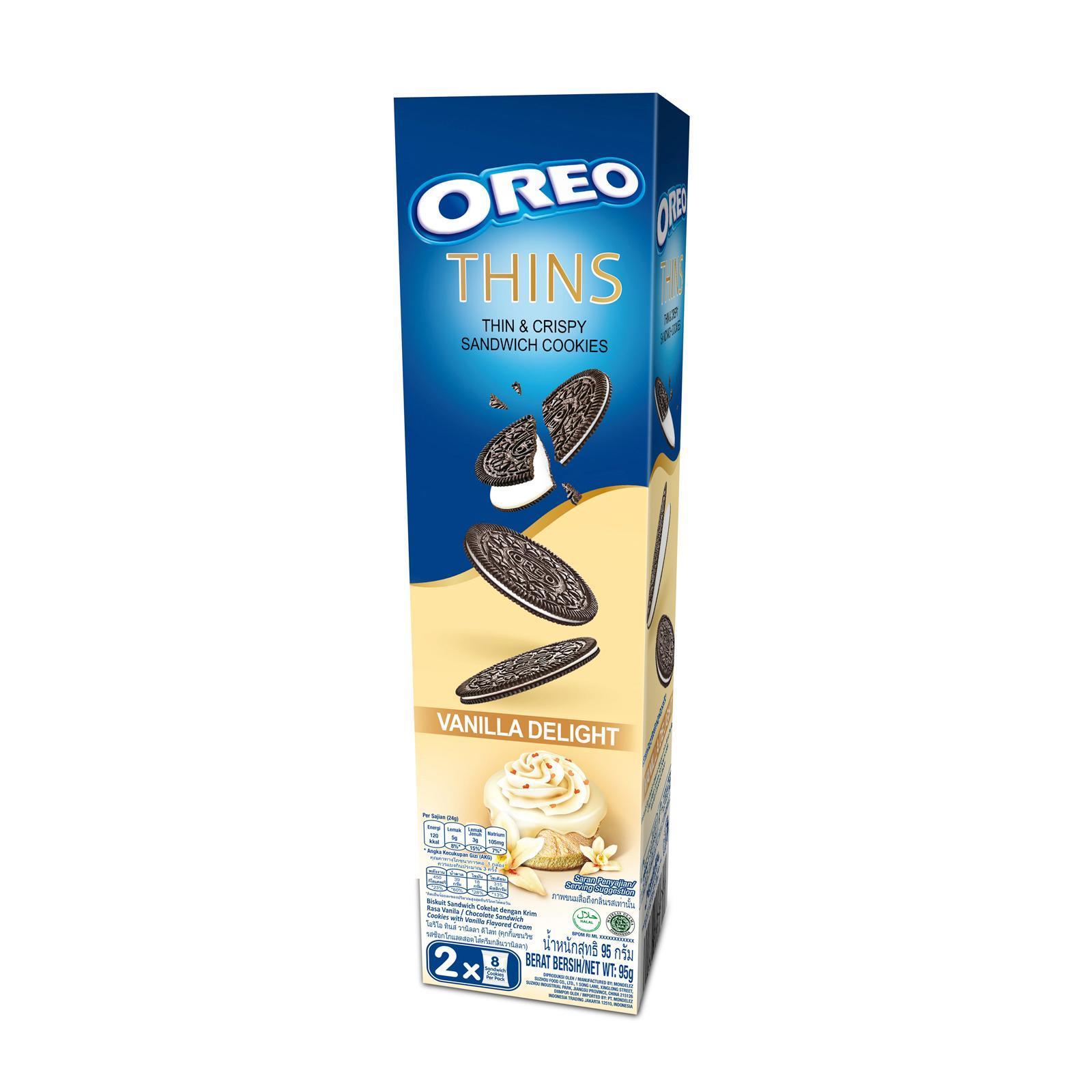 OREO Thin & Crispy Vanilla Cookies 95g