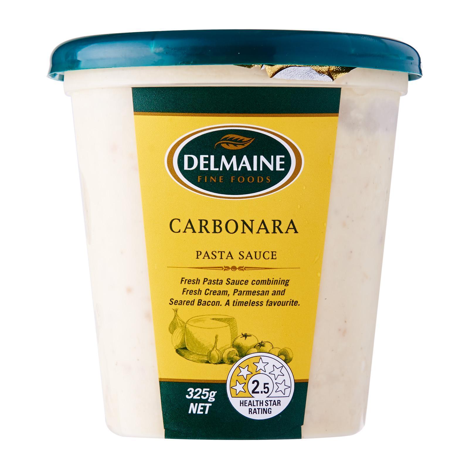 Delmaine Premium Carbonara Fresh Pasta Sauce By Redmart.