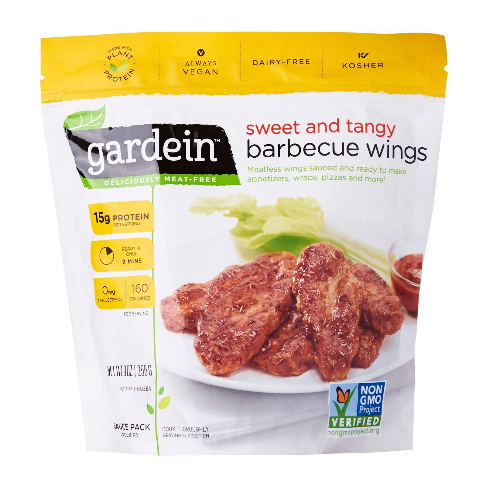 Gardein Sweet and Tangy BBQ Wings Plant Based Meat - Frozen